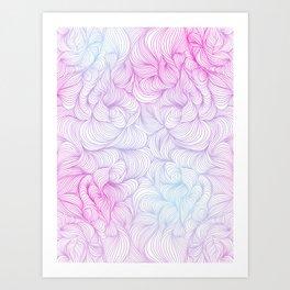 Funky Swirl Pattern Art Print