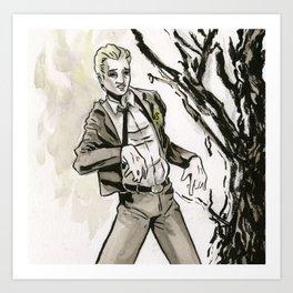 Zombie Cas Art Print