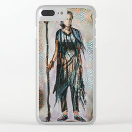 Wandering knight enchantress Clear iPhone Case