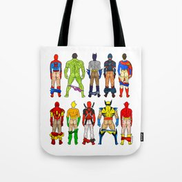 Superhero Butts Tote Bag