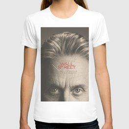 Wall Street, alternative movie poster, Gordon Gekko, Oliver Stone, film, minimal fine art playbill T-shirt