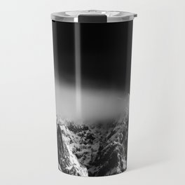 Black and white long exposure of clouds above mountain Travel Mug