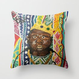 coogi biggie  Throw Pillow