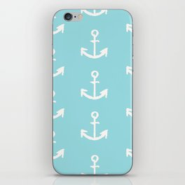 Anchor - mint blue iPhone Skin