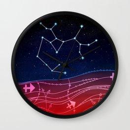 Sagittarius Zodiac Constellation Design Wall Clock
