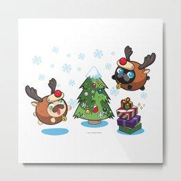 Poopie and Doopie - Merry Christmas! Metal Print