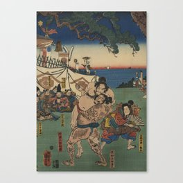 A game of Sumo Wrestling. Canvas Print