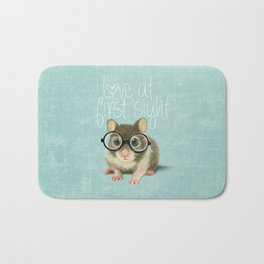 Little mouse in love Bath Mat