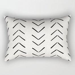 Mud Cloth Big Arrows in Cream Rectangular Pillow