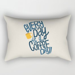 Everyday is Coffee Day Rectangular Pillow