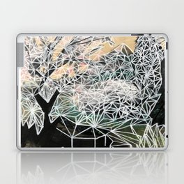 Geometric landscape painting on wood Laptop & iPad Skin