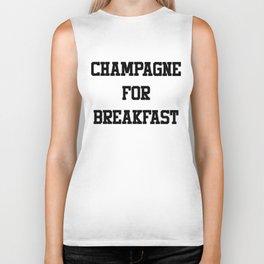 Champagne For Breakfast Biker Tank