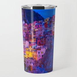 Manarola Cinque Terre Italy at Night Travel Mug