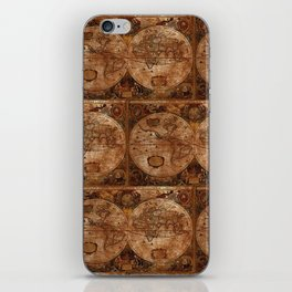 Vintage Olde Worlde Map 1620 iPhone Skin