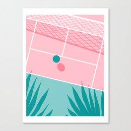 Jock - tennis sport retro neon throwback palm springs los angeles hollywood california sunny pop art Canvas Print