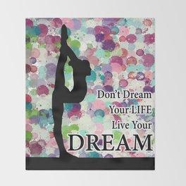 Gymnastics Live Your Dream Design Throw Blanket