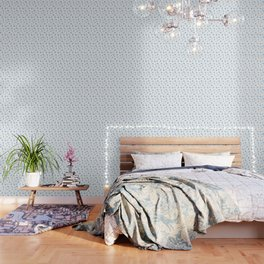 Blue Birds Pattern Wallpaper
