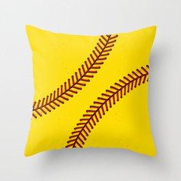 Fast Pitch Softball Throw Pillow