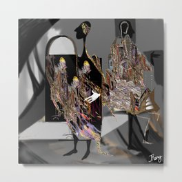personality, psychology, split personality, marionettes, images, perception of reality, inner world Metal Print