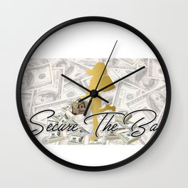 Secure the bag Wall Clock