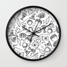 Harry Potter Horcruxes and Items Wall Clock