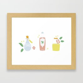 Cute bottles, pastel magic potion Framed Art Print