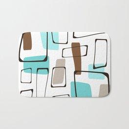 Midcentury Modern Shapes Bath Mat