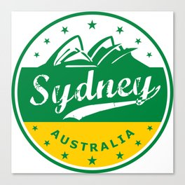 Sydney City, Australia, circle, green yellow Canvas Print