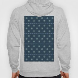 Blue Circles on Blue Hoody