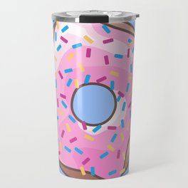 Pink Strawberry Donut Travel Mug