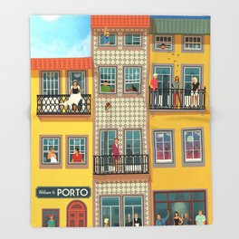 Porto Houses - Portugal Throw Blanket