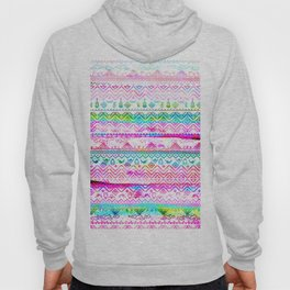 bohemian pattern in pink and turqupise soft colors Hoody