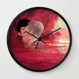 Secret smooch Wall Clock