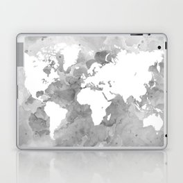 Design 49 Grayscale World Map Laptop & iPad Skin