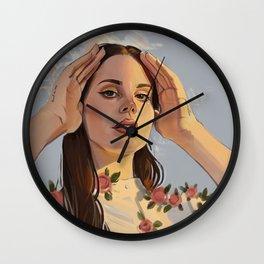 Lana Roses Wall Clock