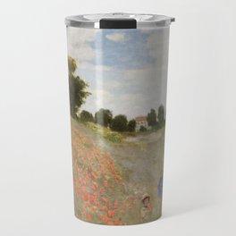 Claude Monet's Coquelicots: La Promenade Travel Mug