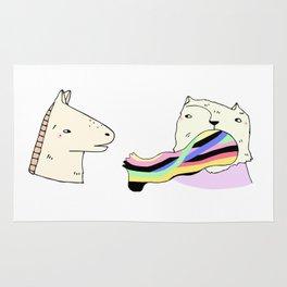 Rainbow Foot Rug