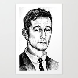 Joseph Gordon-Levitt drawing Art Print