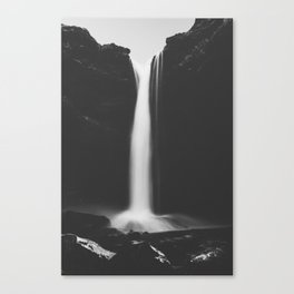 Hidden waterfall - Landscape and Nature Photography Canvas Print