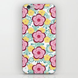 Sweet Plum Flower with Jade Snow Flake iPhone Skin