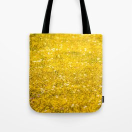 Yellow Daisies in the Field Tote Bag