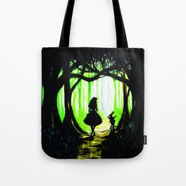 alice and rabbits Tote Bag