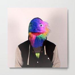 Rainbow Head Metal Print