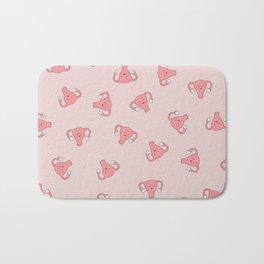 Crazy Happy Uterus in Pink, Large Bath Mat