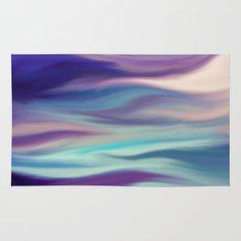 Painted digital silk texture blue colors Rug