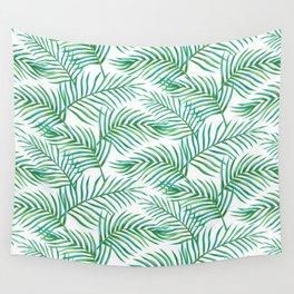 Palm Leaves_Bg White Wall Tapestry