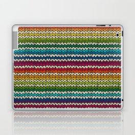 Rainbow knitted stripes Laptop & iPad Skin