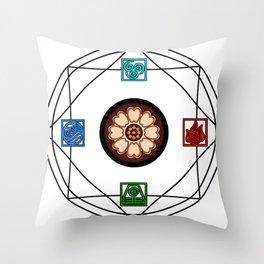 Elemental White Lotus - ATLAS Throw Pillow