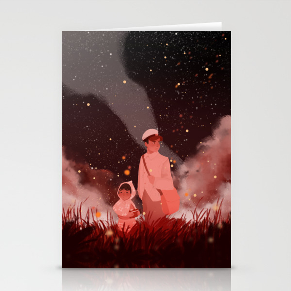 Grave Of The Fireflies Stationery Cards by Violettobacco CRD8960522