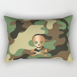 CAMO & ROSE GOLD SKULL Rectangular Pillow